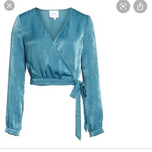 Worn Once JOA Teal Wrap Top XS